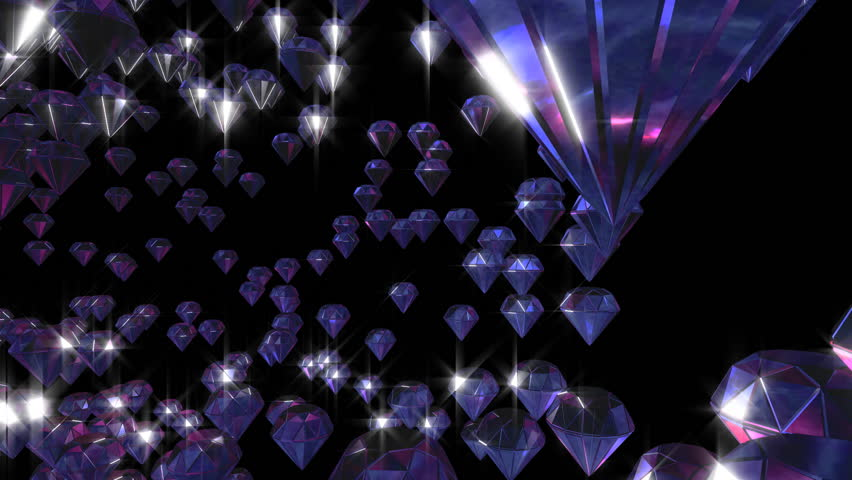 brilliant diamonds with various sizes running - HD stock footage clip