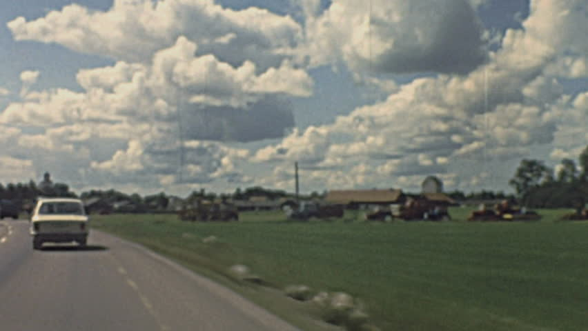 SWEDEN - 1979: driving in the street in 1979 in Sweden - HD stock footage clip