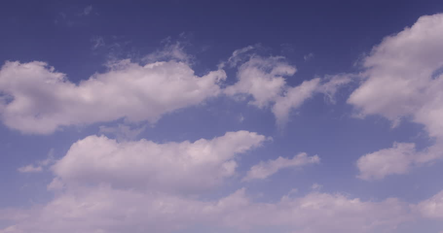 Move clouds over the sky passing spread - 4K stock footage clip