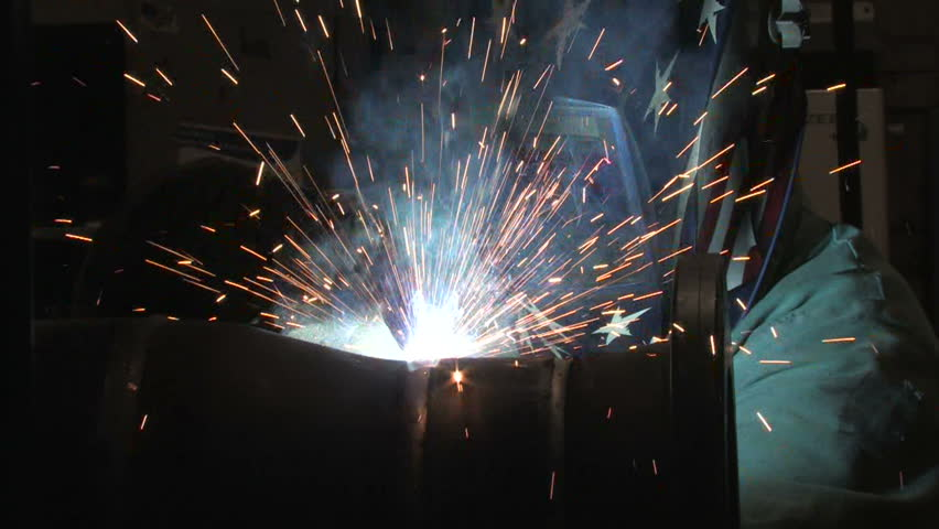 Man Welding, Close Up 2 - HD stock footage clip