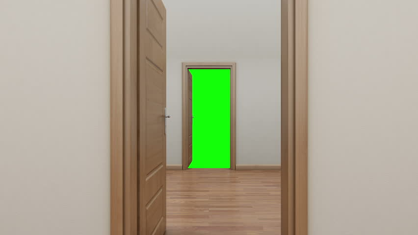 Open door and go out to white light stock footage video for Screen for door that opens out