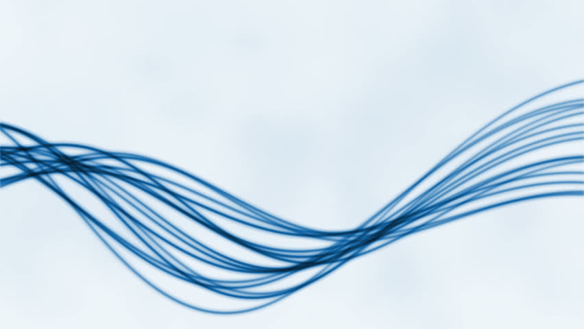 Abstract flowing lines against white, loop