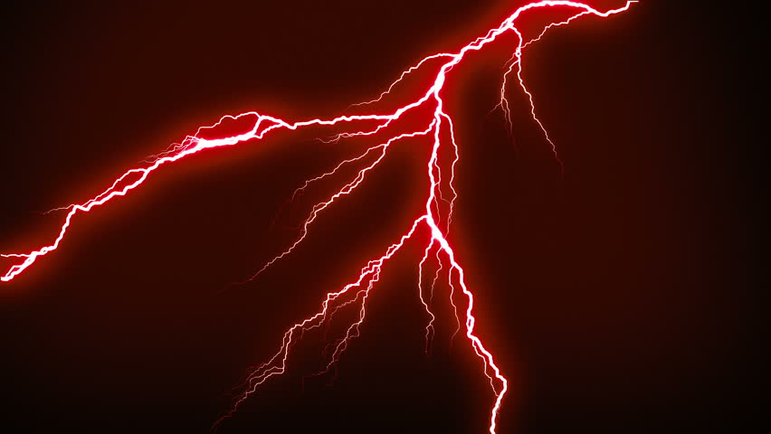 Lightning strikes flashing in the night. Red. More options in my portfolio.