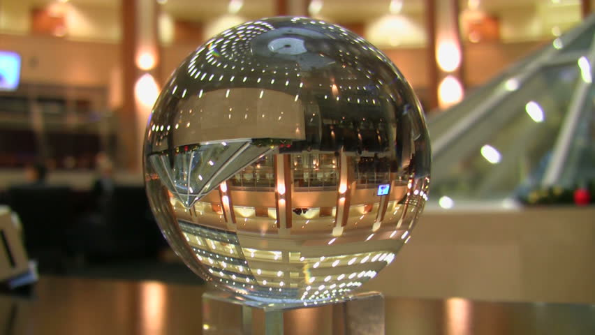 Reflection in a glass sphere
