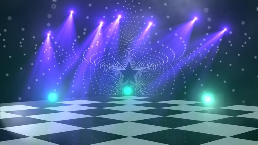 Virtual Dance Floor Disco Lights Background 5 For Titles