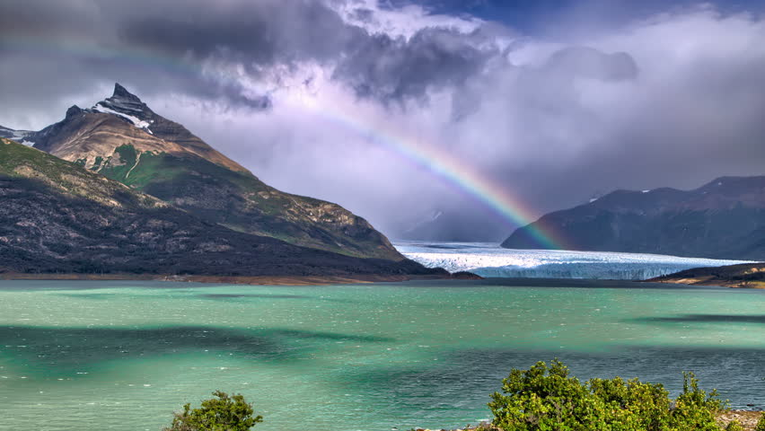 4K Nature timelapse - Rainbow over glacier, Patagonia, Argentina | Shutterstock HD Video #10392908