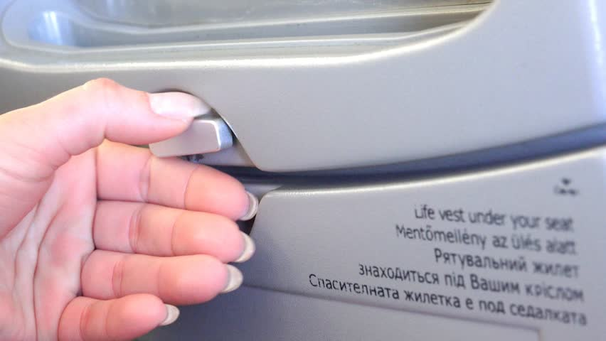 4k businesswoman close plane food tray. UHD stock footage - 4K stock footage clip