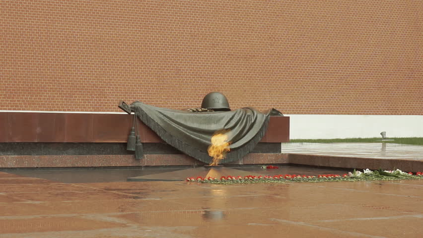 Eternal Flame - Tomb Of The Unknown Soldier. Moscow - HD stock video clip