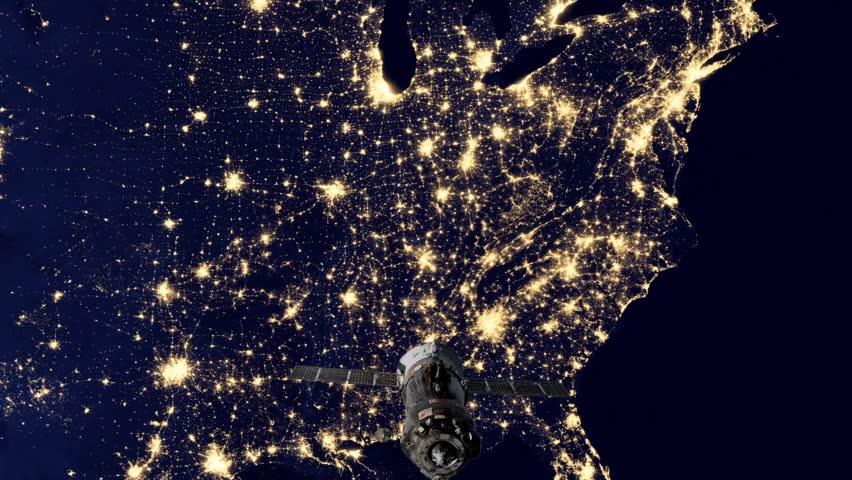 footprint north america nasa night light - photo #25
