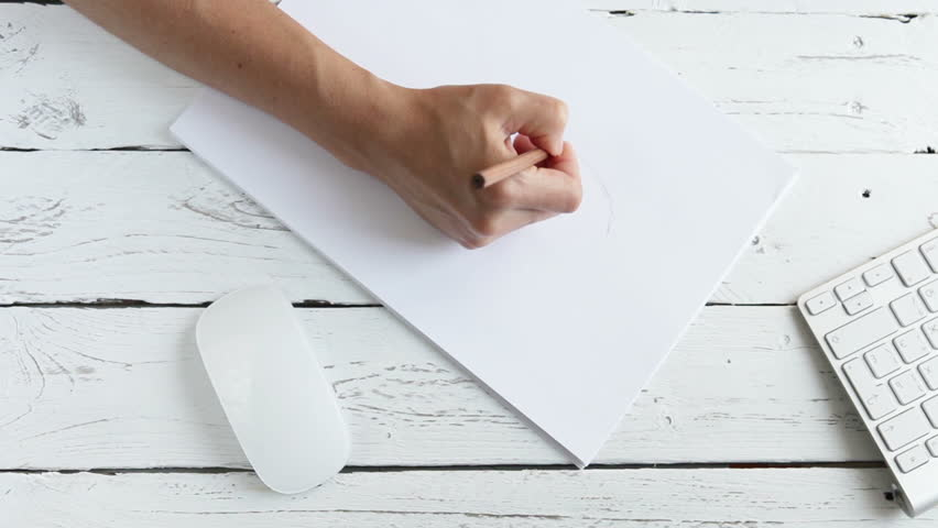 Drawing Line Graphs By Hand : Hand drawing a line with pencil using ruler on the graph