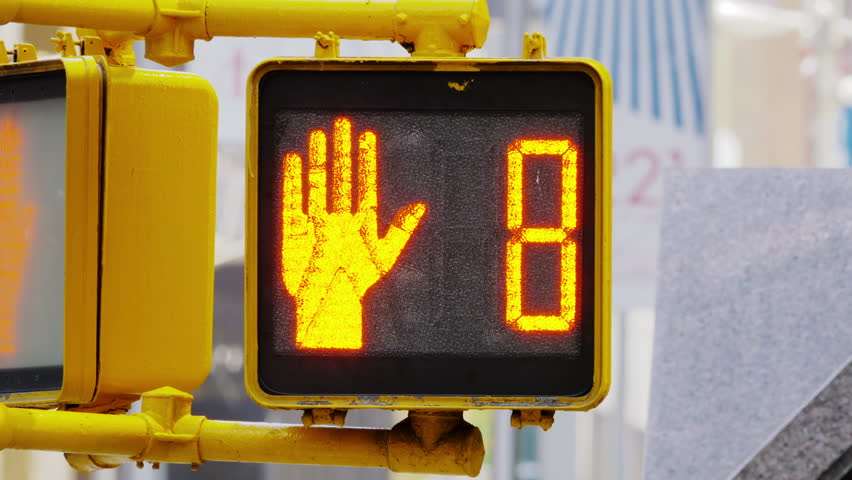 Close up on traffic semaphore, red, counting from 10 to 0 | Shutterstock HD Video #10555115