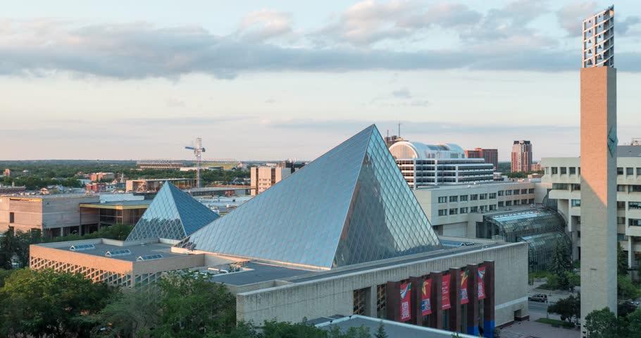 Edmonton, Alberta on June 11, 2015 Timelapse  of Churchill Square in