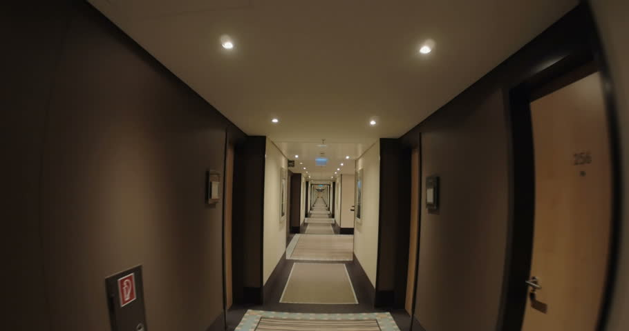 Scary hallway hotel camera travelling high definition pov for Designhotel definition