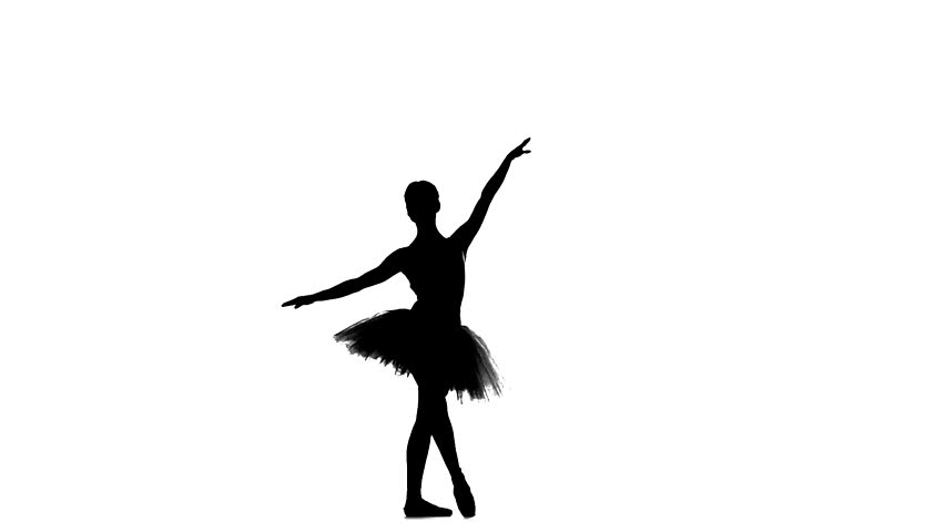 Clip 945757 Stock Footage African American Ballerina Twirling Around On A White Background on silhouette ballerina slippers