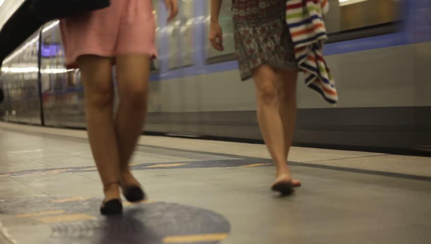 Unidentified people boarding a subway car in Munich, Germany | Shutterstock HD Video #10643252