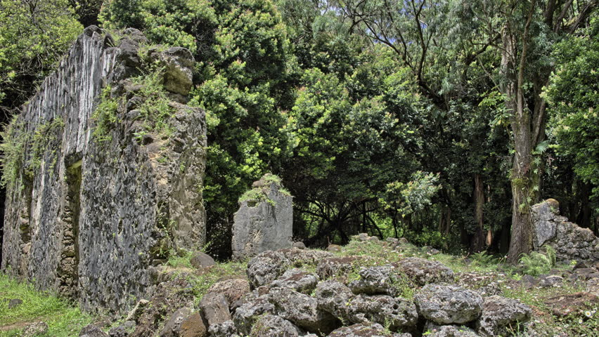 King kamehameha III summer palace, Oahu, Hawaii near Nuuanu - 4K stock video clip