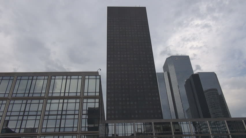 PARIS, FRANCE - June 27, 2015 Head office, headquarters, corporation area, Paris La Defense french office work | Shutterstock HD Video #10656050