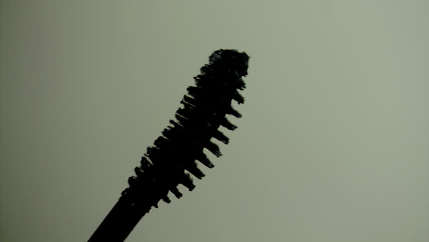 Mascara Brush Detail, Cosmetics, Make Up, Rimel, Close Up Shot - HD stock footage clip