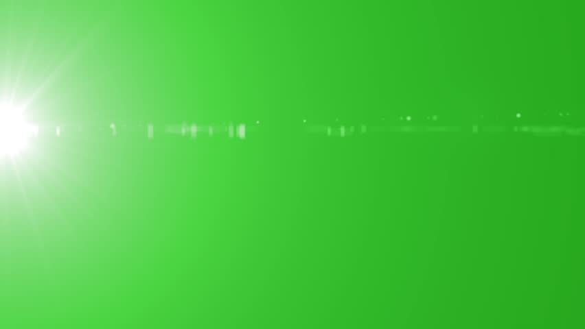 Green Light Effects Stock Footage Video: Red Lens Flare On Green Screen. Light Animation Effect