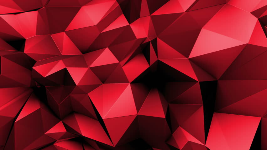 Dark Red Geometric Tech Background With Triangles. Video