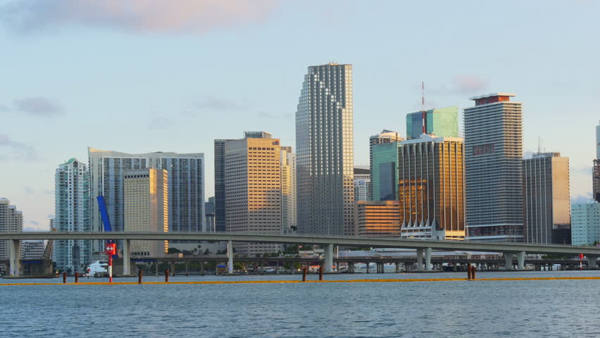 Miami summer sunset downtown famous buildings 4k usa   Shutterstock HD Video #10749416
