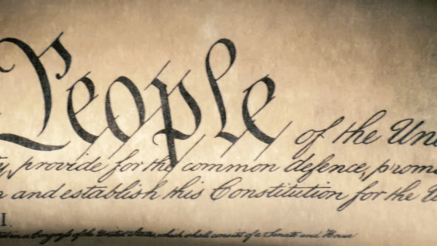 US Constitution of America, We The People United States historical national document