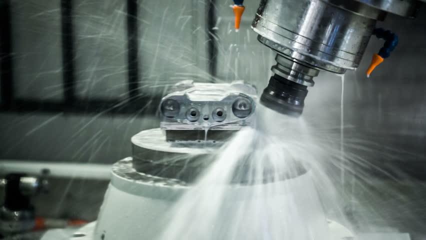 Metalworking Cnc Milling Machine Cutting Metal Modern