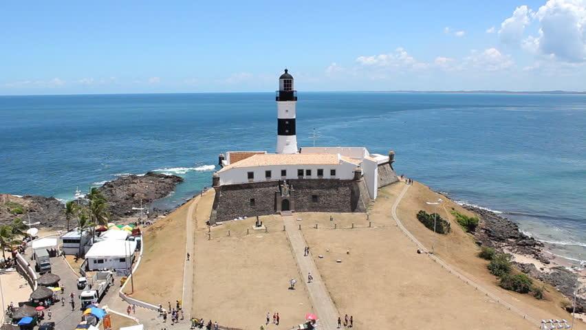 Salvador de Bahia - barra lighthouse - HD stock video clip