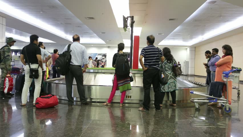 RAIPUR, INDIA - July 01, 2015: Domestic airport terminal on July 01, 2015 in Raipur, Chattisgadh, India. - HD stock video clip