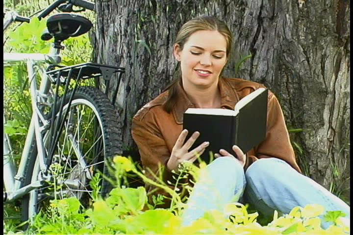 Woman Reading - SD stock video clip