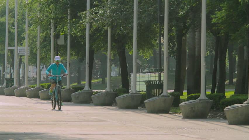 Monterrey, Nuevo Leon. Mexico - CIRCA 2015: Fundidora Park Bicycle riding
