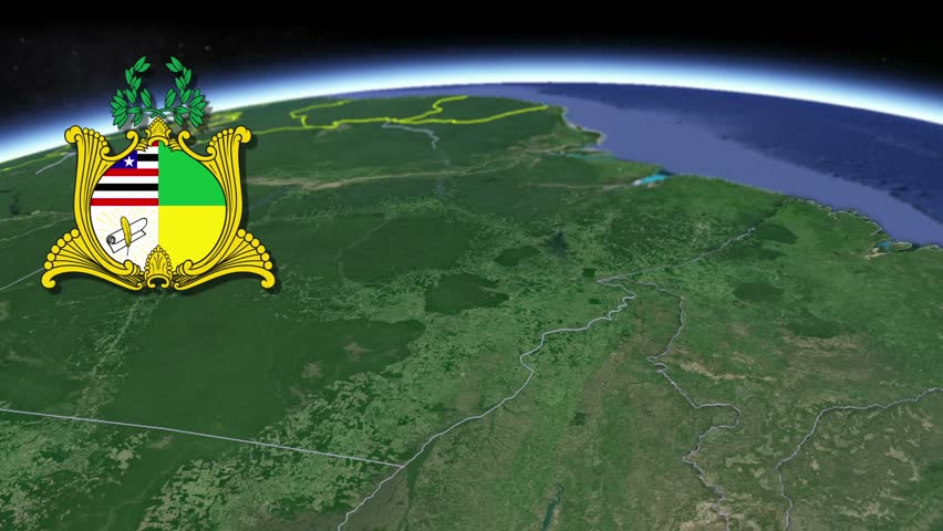 Maranhao white Coat of arms animation map States of Brazil Maranhao white Coat of arms animation map