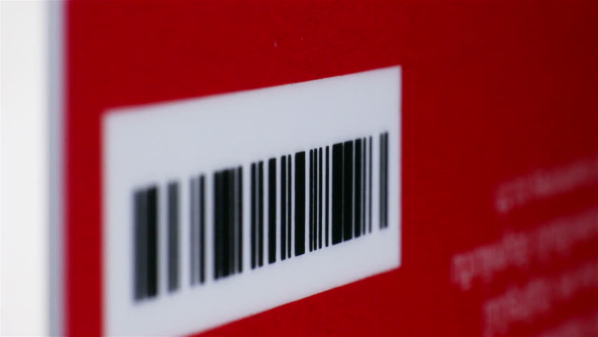 Rotating business card with bar code, Two shot