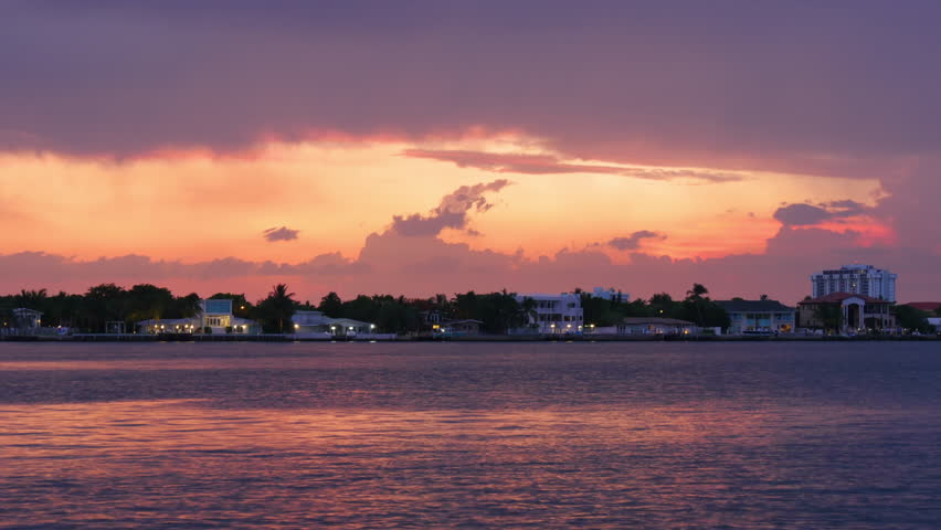summer day miami beach storm sky panorama 4k time lapse florida usa stock footage video 10756739