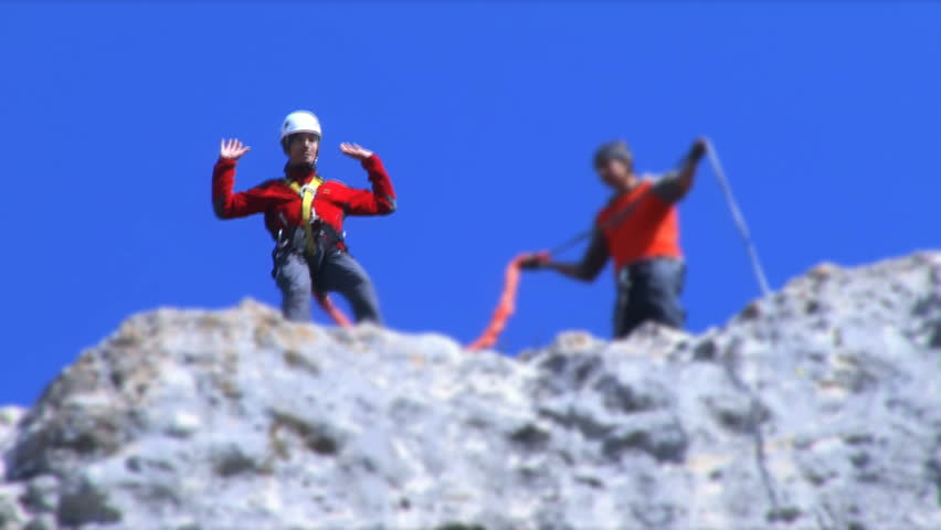 Bungee Jumping - HD stock footage clip