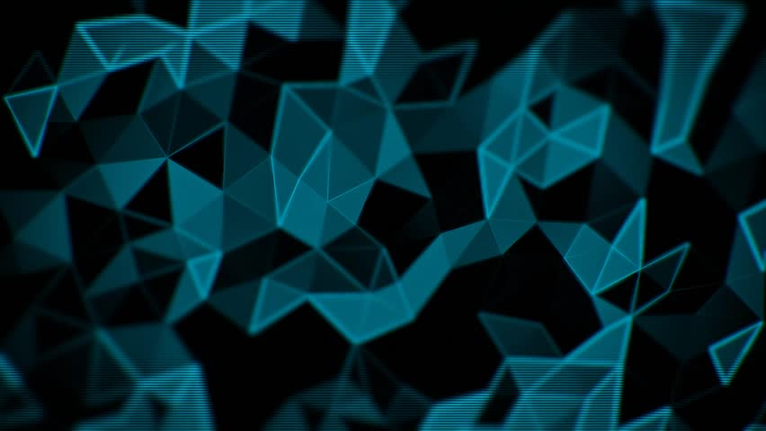 Abstract triangle animated blue background  | Shutterstock HD Video #11037236