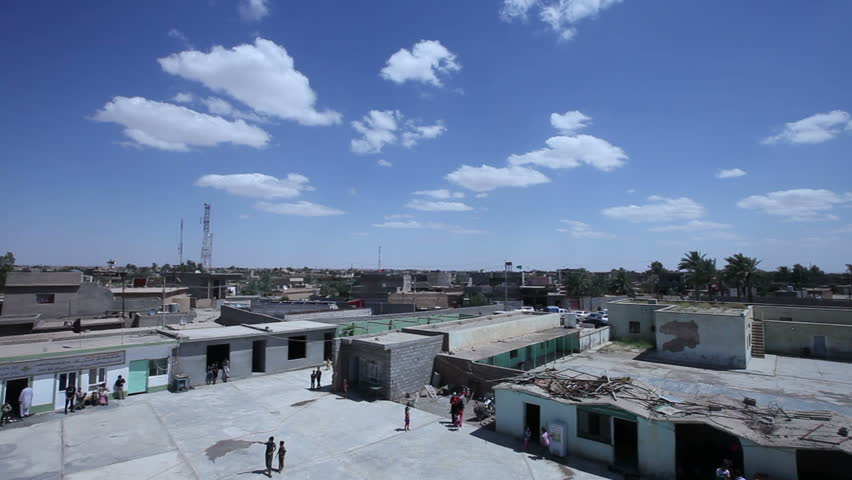 AMERLI, IRAQ - MAY 2015: The city of Amerli skyline, Iraq, tilt down. Amerli steadfastness to ISIS was a turning point in the war between Iraqi government and ISIS