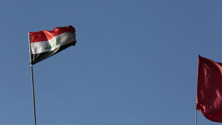 An iraqi flag at Amerli, Iraq.Amerli steadfastness to ISIS was a turning point in the war between Iraqi government and ISIS