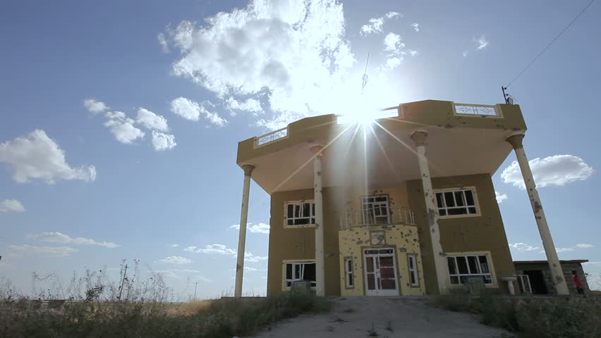 Damaged house on the outskirt of the city of Amerli, Iraq.Amerli steadfastness to ISIS was a turning point in the war between Iraqi government and ISIS