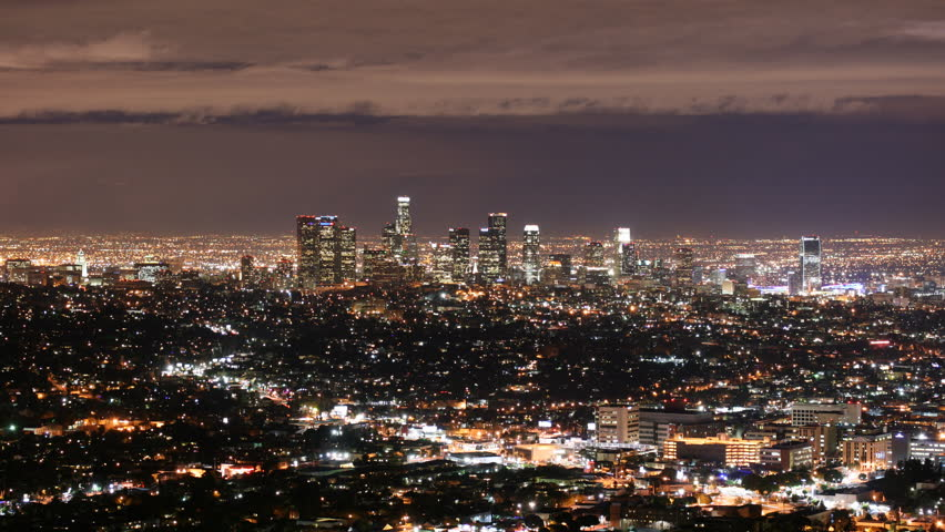 4K time lapse of Los Angeles Cityscape at night. | Shutterstock HD Video #11101334