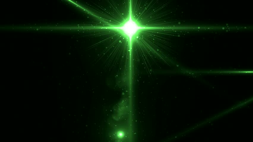Multi-colored Laser Beams Move In Dark Proceeding From One ...