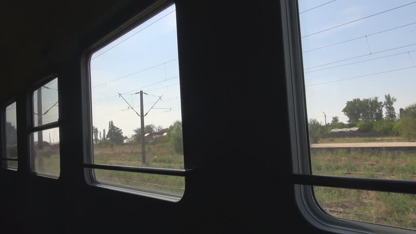 Train move slow, nest station stop, window view, commuting, transit, travelers | Shutterstock HD Video #11187266