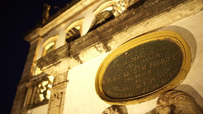 OURO PRETO, MINAS GERAIS / BRAZIL - 2015: Historic city world heritage UNESCO - HD stock video clip