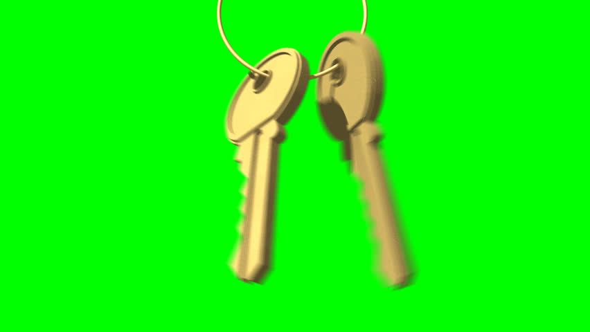 Animated Swinging Door : Animated door keys that slide down a key ring hit and