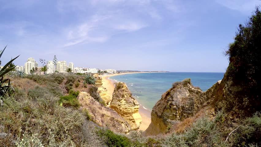 Armacao de Pera, Algarve, Portugal - 4K stock video clip