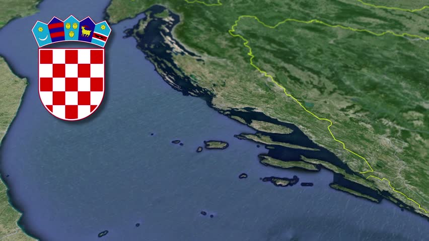 Dubrovnik-Neretva white Coat of arms animation map Counties of Croatia