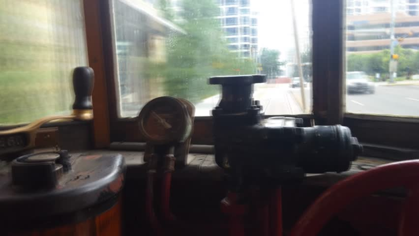 Dallas, Texas - Timelapse from the interior of McKinney Avenue Trolley.