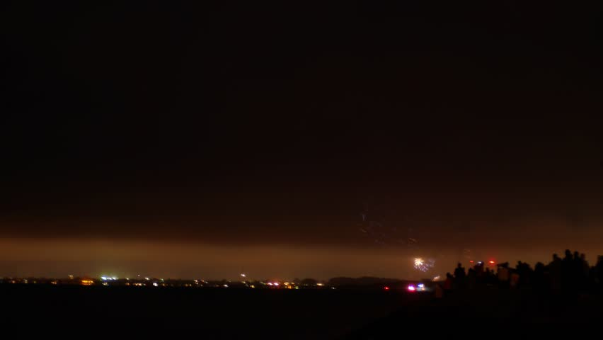 Berkeley, California - July, 2015 - Timelapse video of fourth of July fireworks at the Berkeley Marina.