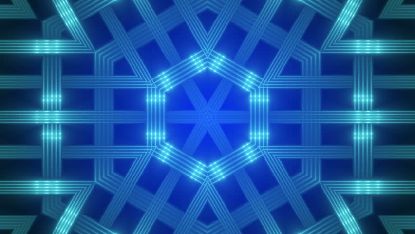 Blue abstract background, kaleidoscope light, loop | Shutterstock HD Video #11467625