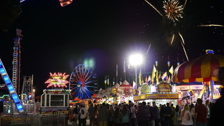 County Fair - Midway Amusement Park Rides (Editorial)
